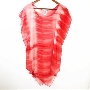 BECCA MINERAL SPRINGS SHEER SWIM COVER UP TUNIC